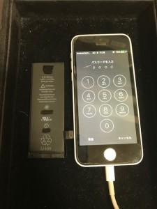 iPhone5C電池交換