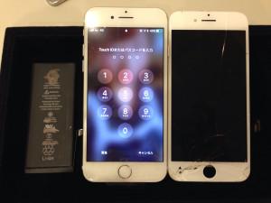 アイフォン6s/画面+バッテリー修理