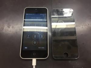 iPhone5c画面修理