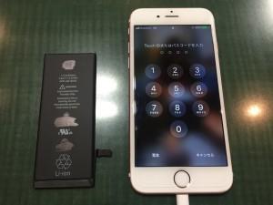 アイフォン6s電池交換