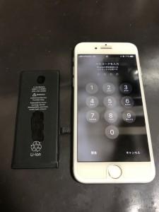 iPhone7 バッテリー交換