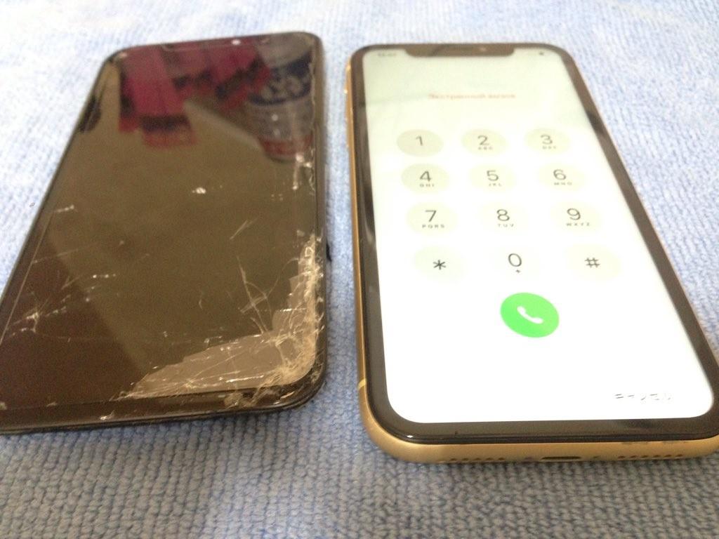 iphoneXS 液晶破損 210321