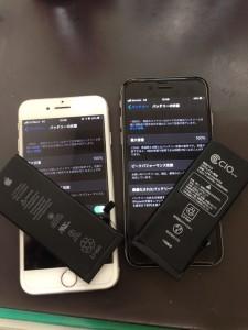 アイフォン6S&7電池パック交換
